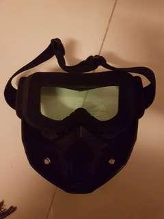 Helmet Mask Detachable Goggles Mouth Filter