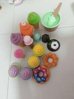 Ice cream cupcake set