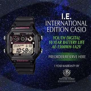 CASIO INTERNATIONAL EDITION COUNTDOWN TIMER SERIES AE-1300WH-1A2V