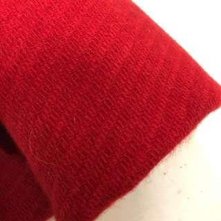 🚚 喜氣洋洋正紅色毛呢 厚磅混紡羊毛布1碼