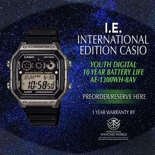 CASIO INTERNATIONAL EDITION SPORT 10 YEAR BATTERY AE-1300WH-8AV