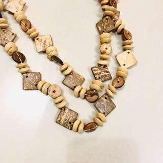 🚚 熱帶風格 木製項鍊串