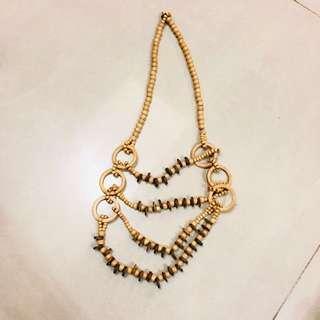 🚚 波希米亞風格 木質串珠 項鍊