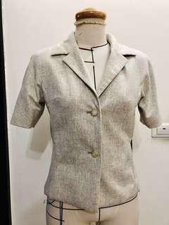 🚚 古著羊毛 毛料連袖短外套 含全內裡