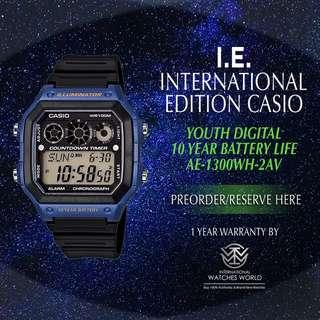 CASIO INTERNATIONAL EDITION 10 YEAR BATTERY LINE AE-1300WH-2AV