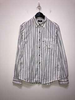 伏見古著 Polo Ralph Lauren RL 條紋襯衫 vintage
