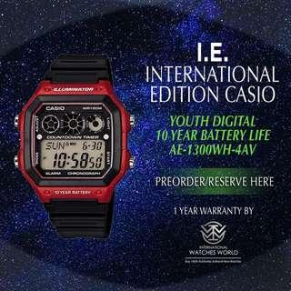 CASIO INTERNATIONAL EDITION 10 YEAR BATTERY LINE COUNTDOWN TIMER AE-1300WH-4AV