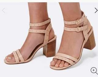 Forever new stud block heels