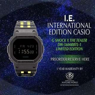 CASIO INTERNATIONAL EDITION G SHOCK X TEALER YELLOW STRIPED LIMITED EDITION DW-5600BBTL-1