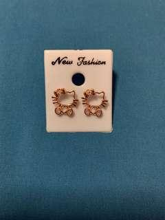 Rose Gold Hello Kitty Earrings