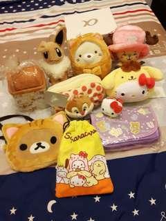 🚚 拉拉熊kitty寶可夢蒂蒂相關物品(化妝包,觸控包,玩偶,束口袋,小垃圾桶)