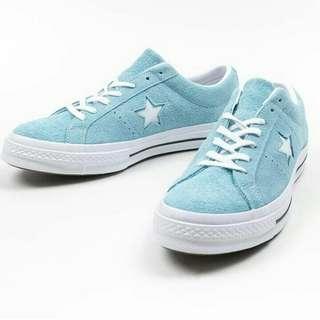 Sepatu Converse One star Ox Suede Shoreline Blue
