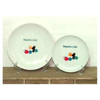 Gaspard et lisa 麗莎和卡斯柏 早期收藏的 一大一小 2入組 陶瓷盤 圓盤 餐盤 點心盤 水果盤 正版授權 絕版品