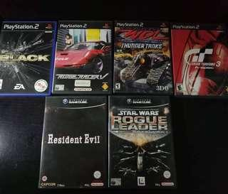 PS2 AND GAME CUBE CARTRIDGE 500Pesos each