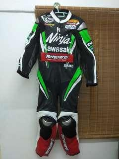 Kawasaki Motorbike Leather Racing Suit