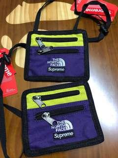 Supreme The North Face Expedition Travel Wallet Purple( HK AAA )