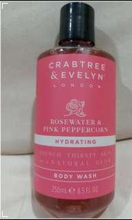 Crabtree and Evelyn Rosewater and Pink peppercorn Shower Gel
