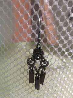 🚚 Curly-cue antiqued earrings