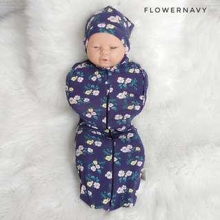 Hot Seller Flowernavy Instant Baby Zip Swaddle