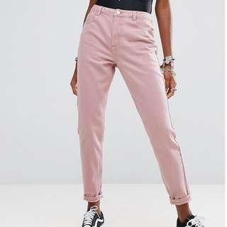 Pastel Pink ASOS Mom Jeans