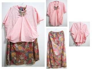 Batik pink 1 set