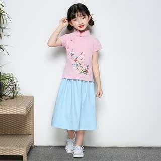 Girl cheong sam suits