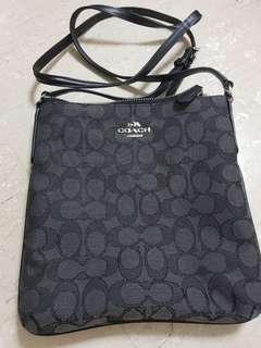 Coach crossbody sling bag (smoke black)