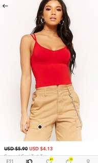 Forever 21 Strapped Crop Cami
