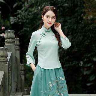 Women cheong sam blouse