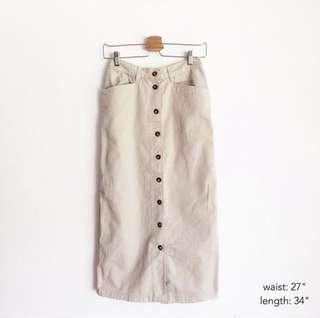 Vintage Button Skirt
