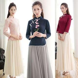Women 2in1 cheong sam suit