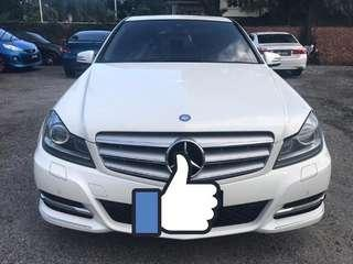 SEWA BELI  MERCEDES BENZ C200 CGI YEAR 2011/2016 MONTHLY RM 1650 BALANCE 6 YEARS + ROADTAX VALID SEMI LEATHER SEAT TIPTOP CONDITION  DP KLIK wasap.my/60133524312/c200