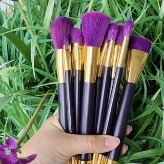 15 Pieces Purple Gold Makeup Brush