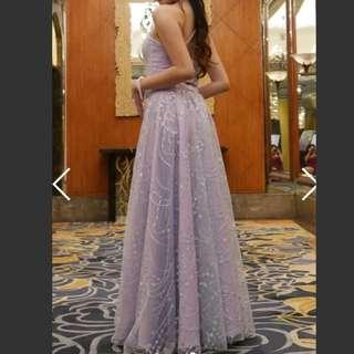 LAVENDER TWO-PIECE LONG DRESS FOR RENT