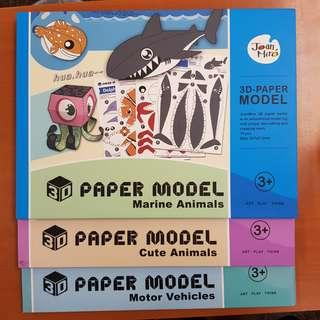 3D paper model art and craft educational enrichment toys children