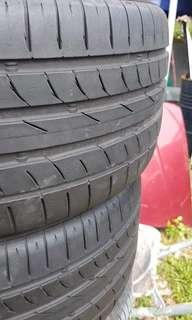 Tayar second used continental 245/40/18