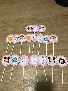 Cupcakes toppers Tsum Tsum