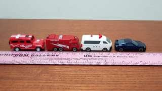 Mini plasic vehicles - LOT