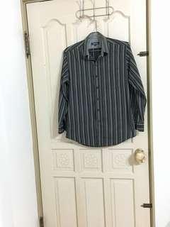 🚚 男仕直條紋襯衫