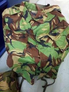 British army DPM 英軍迷彩衫褲一套