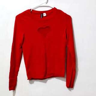 H&M Divided Heart Sweater