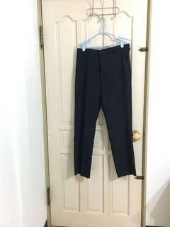 🚚 全新深藍色西裝褲(腰圍34吋)