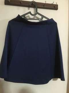 Blue skirt / rok biru merk details size M pinggang karet