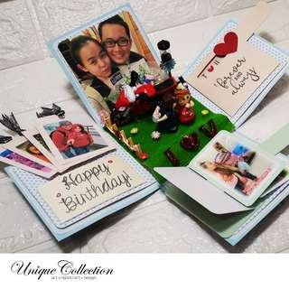 [CUSTOMIZED VALENTINE'S DAY GIFT] Quilled Explosion Box