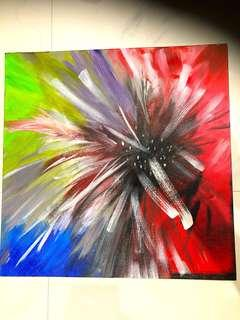 Abstract Flower Acrylic Oil Canvas Scandinavian Painting