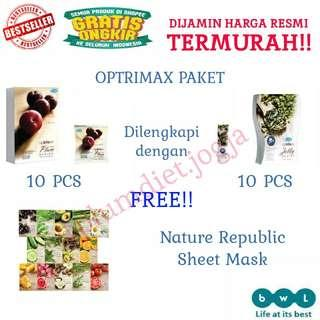 Paket plum optrimax 10 + jelly delite 10 free sheet mask