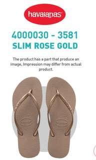 BNIB Authentic Havaianas for Women Slim Slippers