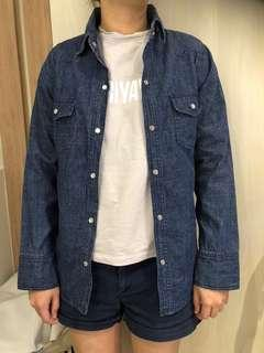 Dark Denim Collared Shirt