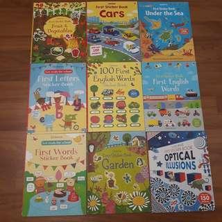 Children stickers activities books