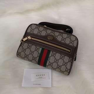 ON HAND: Authentic Gucci GG Supreme Ophidia Canvas Women's Belt Bag, Size 85